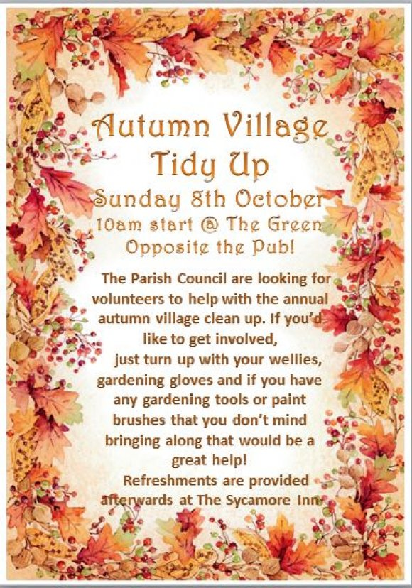Autumn tidy up poster 2017