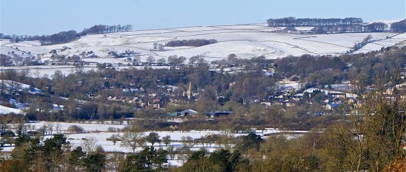 Image: Winter scene of Parwich